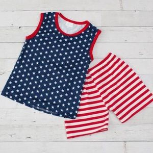Other - 🆕Boys 4th of July Boutique Shorts Set